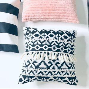 Other - Boho Aztec Fringe Accent Decor Pillow